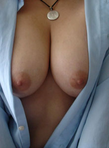 Kittys Huge Tits Are Hanging Out Of Her Unbuttoned Dress Shirt - Picture 3