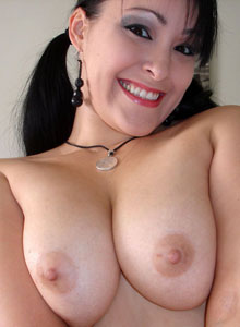 Kittys Huge Tits Are Hanging Out Of Her Unbuttoned Dress Shirt - Picture 7